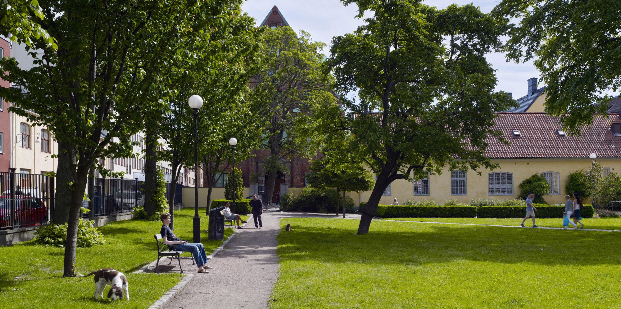 Parken utanför kronhuset